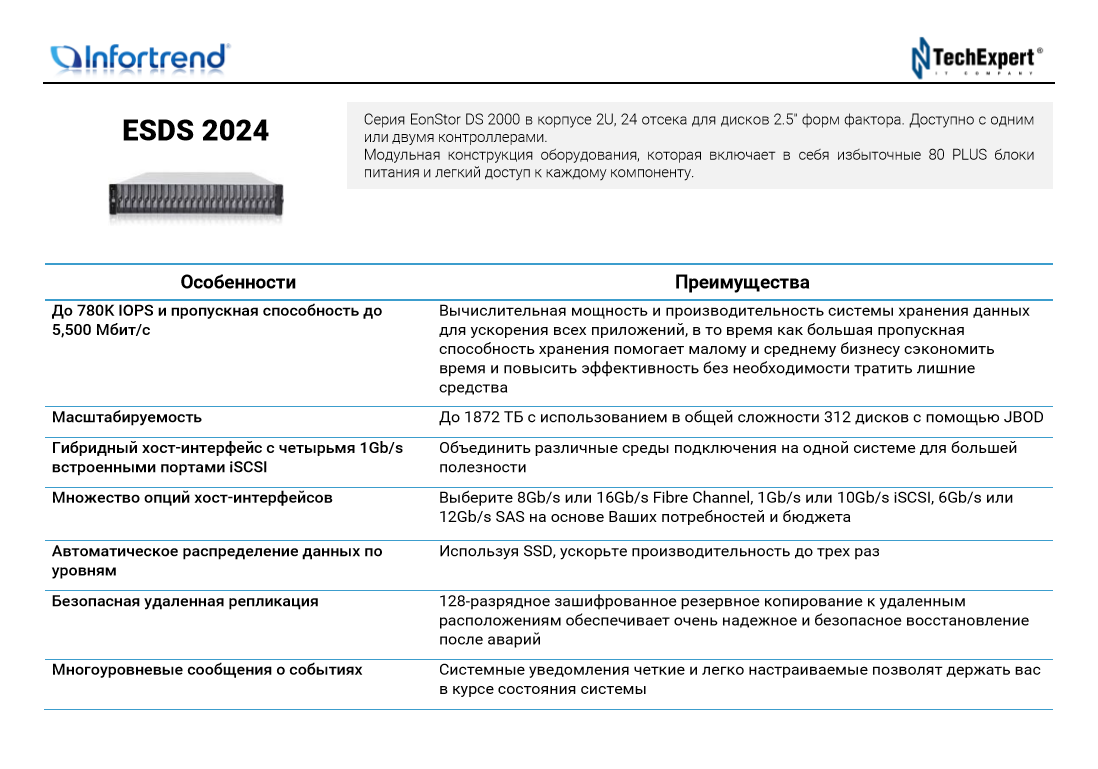 Infortrend-ESDS-2024