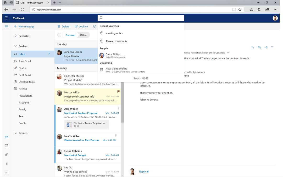 Функция Умного поиска в Microsoft