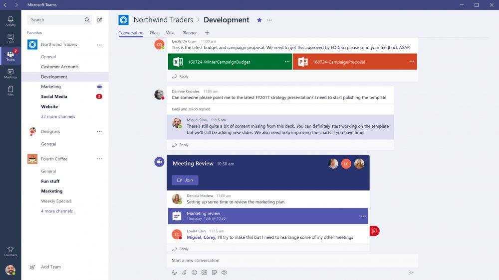 Microsoft Teams. Планирование встреч и совещаний