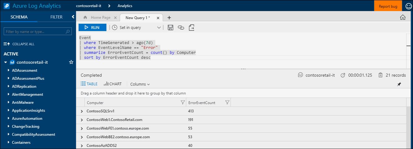 Язык запросов. Azure Log Analytics