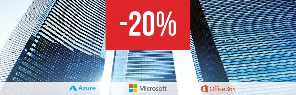 Скидка 20% на услуги внедрения облачных сервисов Microsoft
